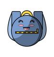school backpack cartoon vector image