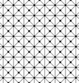 Seamless monochrome wired grid pattern vector image vector image