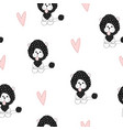 seamless pattern with cute lion vector image vector image
