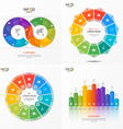 set of infographic templates with 11 options vector image vector image
