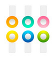 set of toggle buttons collection vector image