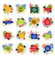 set of welcome back to school badge vector image vector image