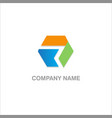 shape colored company logo vector image vector image