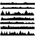 silhouettes mountain vector image vector image