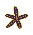 starfish seaweed marine or ocean underwater vector image vector image