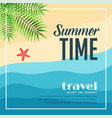 summer beach paradise travel background vector image vector image