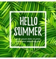 summer party poster with palm leaf vector image