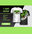 t-shirt mockup with snakes phrase in two colors vector image vector image