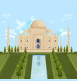taj mahal india famous building attraction vector image vector image