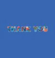 thank you concept word art vector image vector image