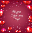 valentines day poster with red hearts red vector image vector image