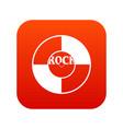 vinyl icon digital red vector image
