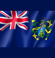 waving flag of pitcairn islands vector image