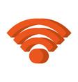 wifi internet signal online market symbol vector image vector image