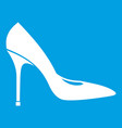 women shoe with high heels icon white vector image vector image
