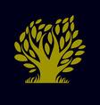 Art fantasy of tree stylized eco symbol Graphic d vector image