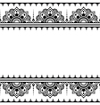 Mehndi Indian Henna tattoo design - greetings car vector image