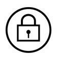 lock icon - iconic design vector image