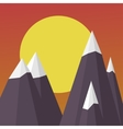 Mountains on the Sun background sunset landscape vector image