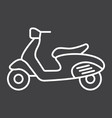 scooter line icon transport and vehicle vector image