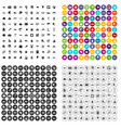100 sea life icons set variant vector image vector image