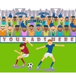 a soccer match vector image vector image