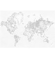 abstract dotted map black and white halftone vector image vector image