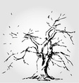 Abstract tree with fallen leaves vector image vector image