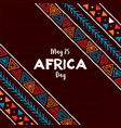 africa day card traditional african art vector image vector image
