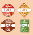 autumn tags vector image