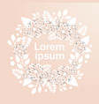 beautiful template floral ornament in pastel vector image