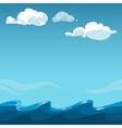 Blue sky over the sea background vector image vector image