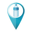 blue water bottle map marker flat design vector image vector image
