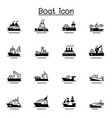 boat ship icon set vector image