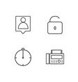 Business simple outlined icons set