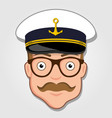 captain cartoon face vector image vector image