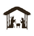 christmas christian scene with baby jesus in the vector image vector image