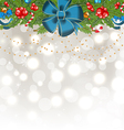 Christmas glowing background with holiday vector image vector image
