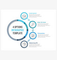 circle infographic template with four options vector image vector image