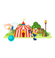 circus located in park main entrance to room vector image vector image