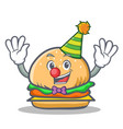 clown burger character fast food vector image vector image