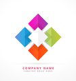 colorful shape business symbol vector image vector image