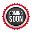 Coming Soon badge vector image vector image