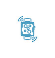 digital watch linear icon concept digital watch vector image