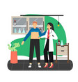 doctor therapist physician examining patient vector image vector image