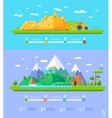 ecology infographic elements flat design vector image vector image