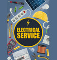 electrical service tools and equipment vector image