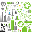 environment pollution set infographics vector image vector image