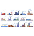 factory buildings industry warehouse and power vector image