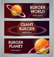 fast food creative advertising banners set burger vector image vector image
